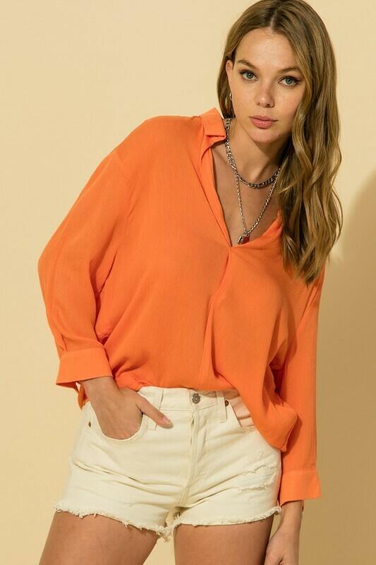 Mornin Breeze Blouse-Orange