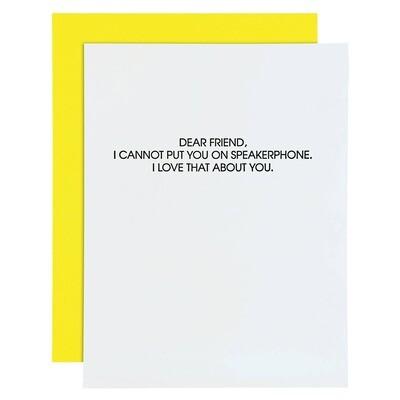Speakerphone Card