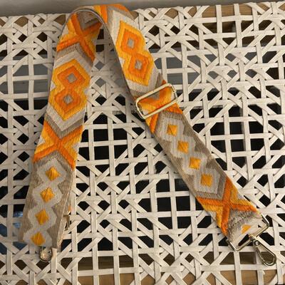 Aztec Bag Strap-Orange