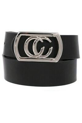 Double C Belt-Blk Sil