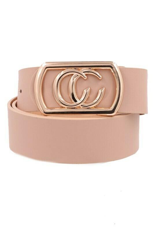 Double C Belt-Blush Gld