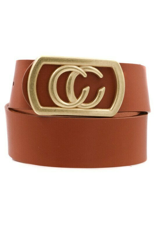 Double C Belt-Brn Gld