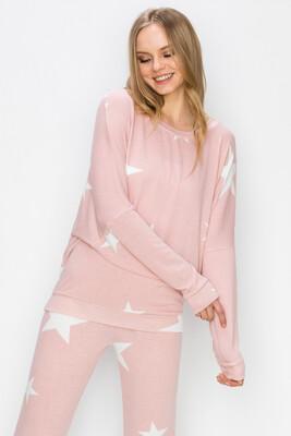 Big Stars Top-Pink
