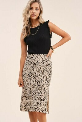 Oh Animal Skirt-Cream