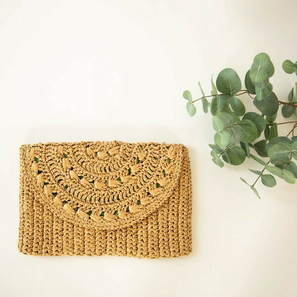 Foldover Clutch-Palm