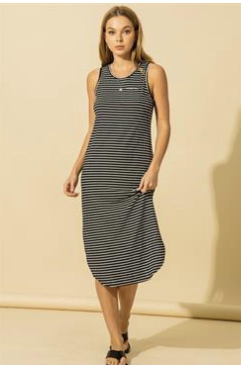 Softy Stripe Midi Dress
