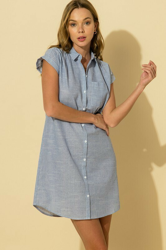 Oxford Dress-Blue