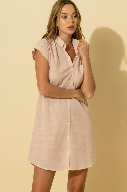 Oxford Dress-Pink