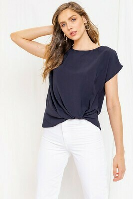 Feeling Knotty Tee-Navy