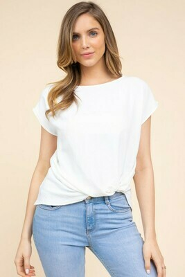 Feeling Knotty Tee-White
