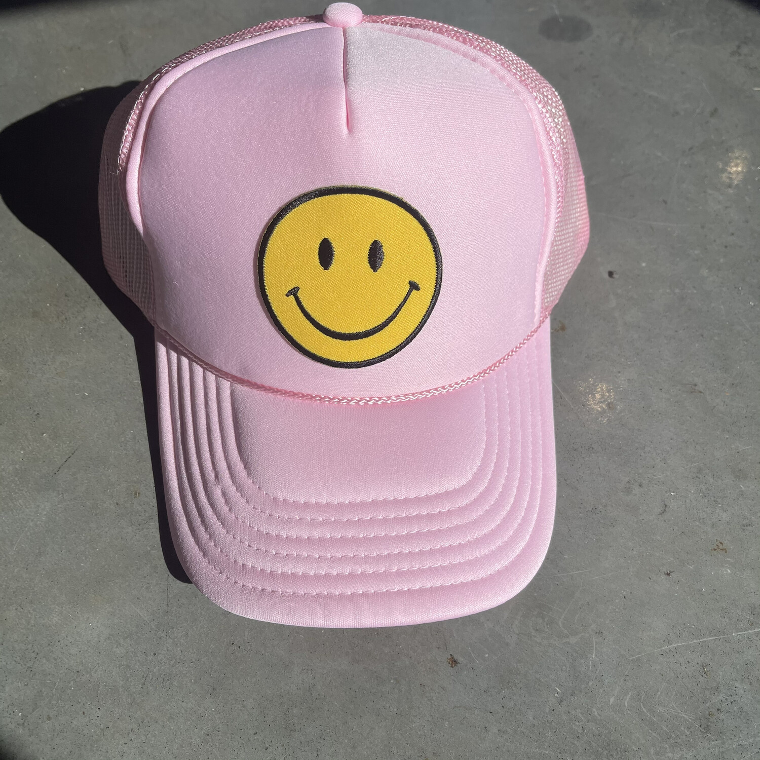 Smile Hat-Baby Pink