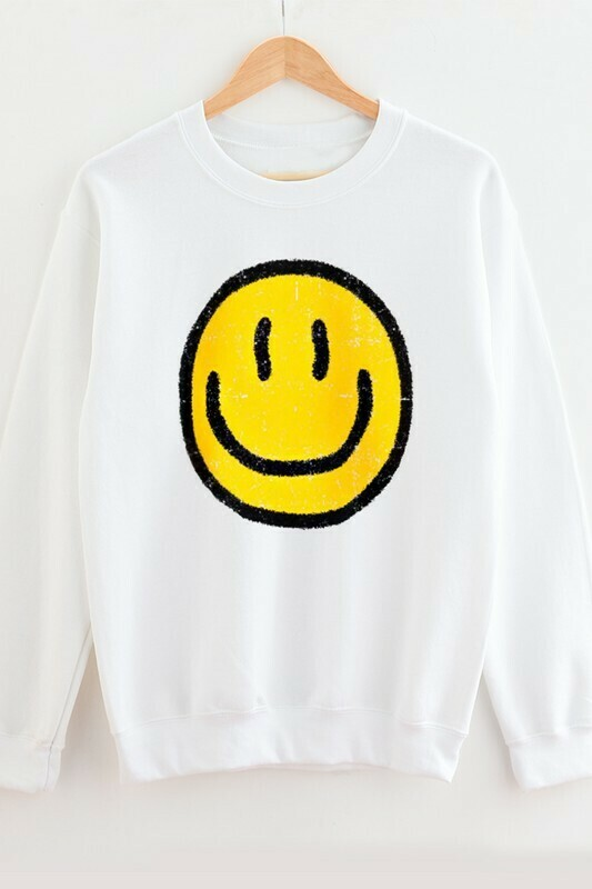 Happy Day Pullover-Wht