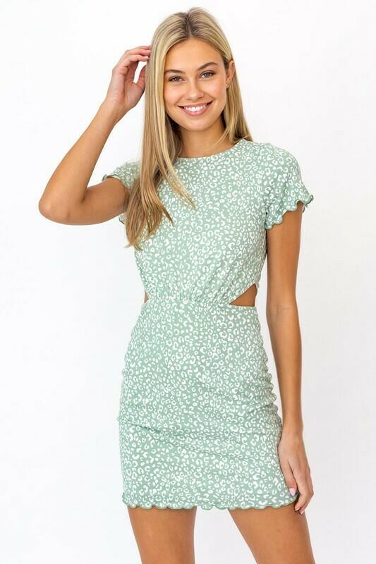 Sage Cheetah Dress