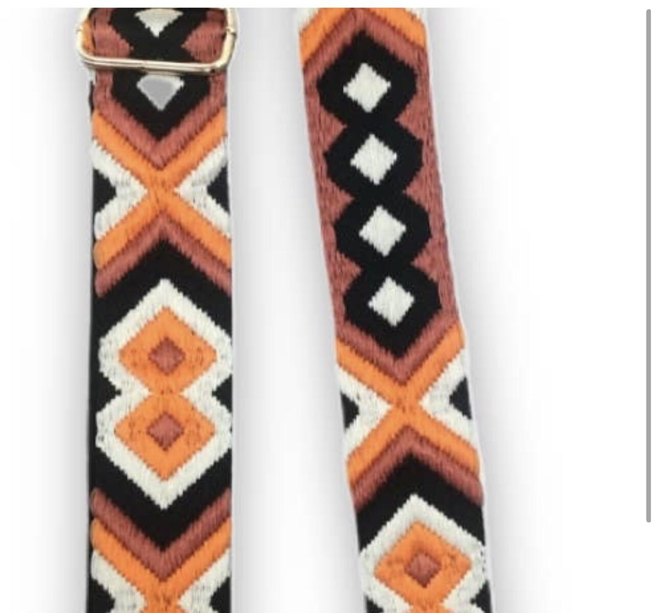 Aztec Strap-Orange Blk