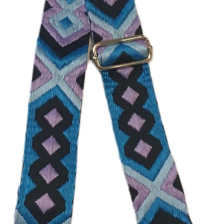 Aztec Strap-Blue Pink