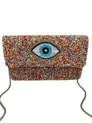 Eye Beaded Bag