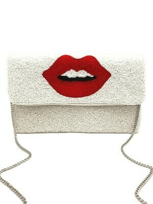 Lips Beaded Bag