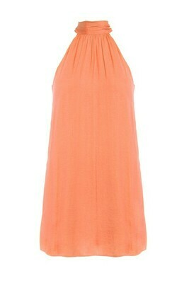 Hi Neck Halter Dress-Grapefruit
