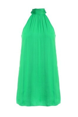 Hi Neck Halter Dress-Jade