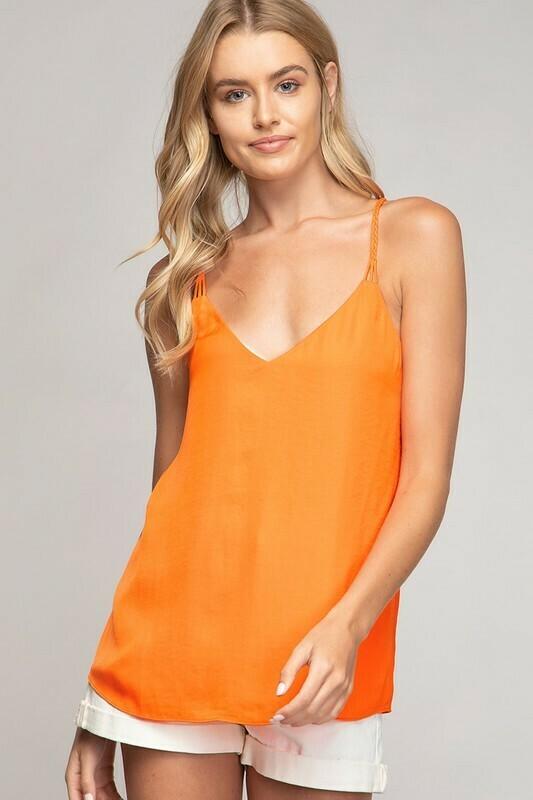 Braided Back Cami-Orange
