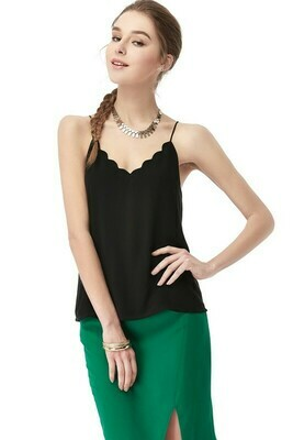 Scallop Tank-Black