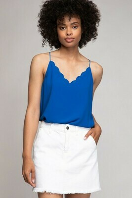 Scallop Tank-F Blue