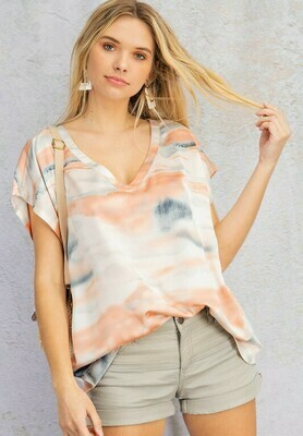 Watercolor Top-Coral