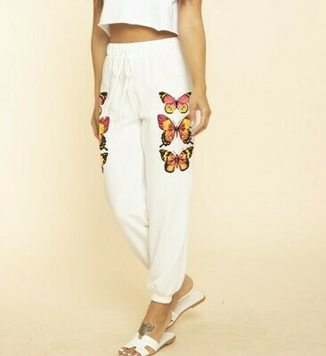 Butterfly Jogger-Wht