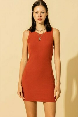 Bodycon Dress-Brick