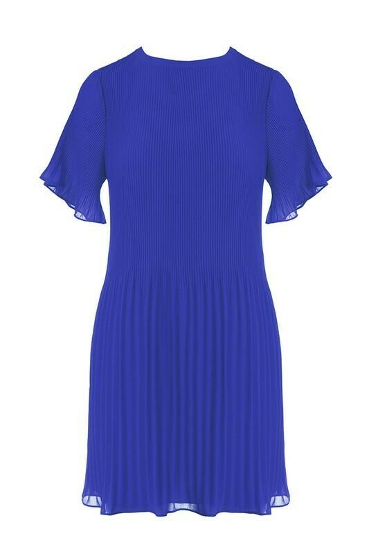 Pleated Mini Dress-Capri