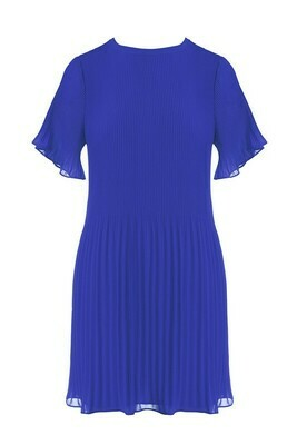 Pleated Mini Dress-Capri