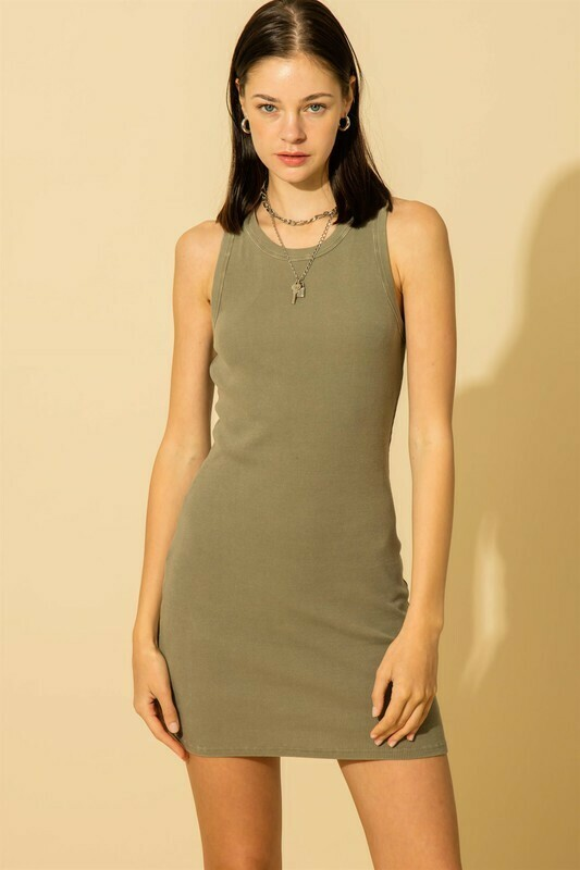 Bodycon Dress-Olive