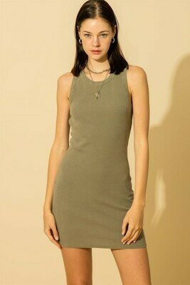 Bodycon Dress-Olive