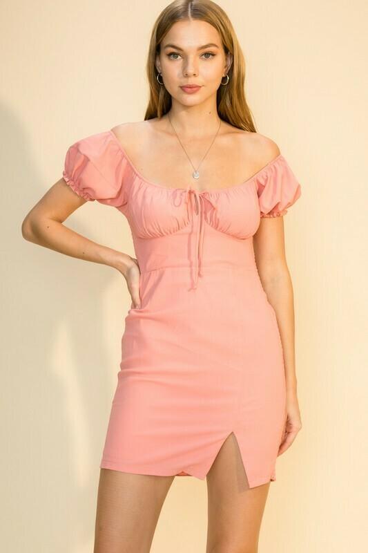 Sweet Caroline Dress-Pink