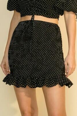 Mini Dotty Skirt-Blk