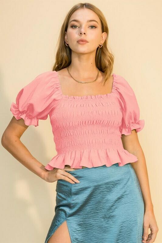 Belinda Top-Pink