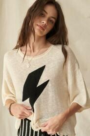 Bolt Sweater-Cream