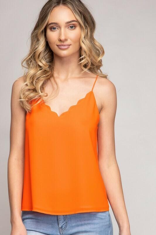 Scallop Tank-Orange