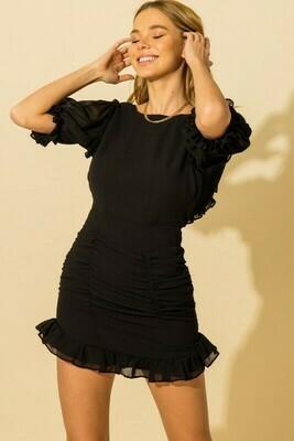 Georgia Line Dress-Blk