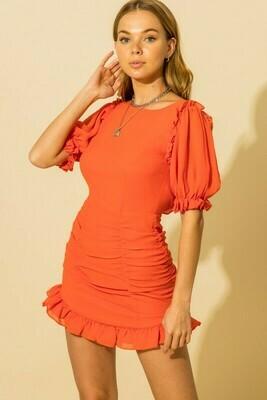 Georgia Line Dress-Red