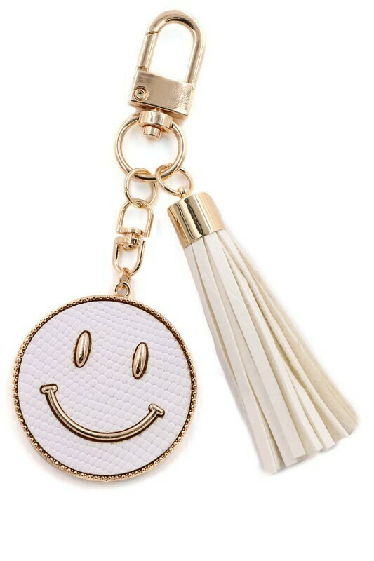 Happy Days Keychain-Wht