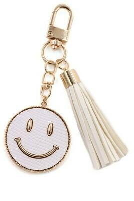 Happy Days Keychain-Wht