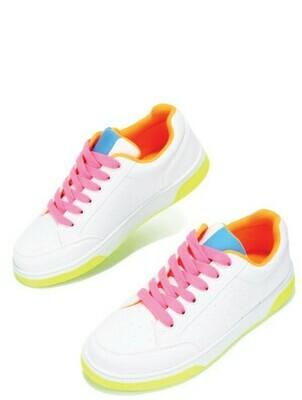 Neon Lights Sneaker-Lime