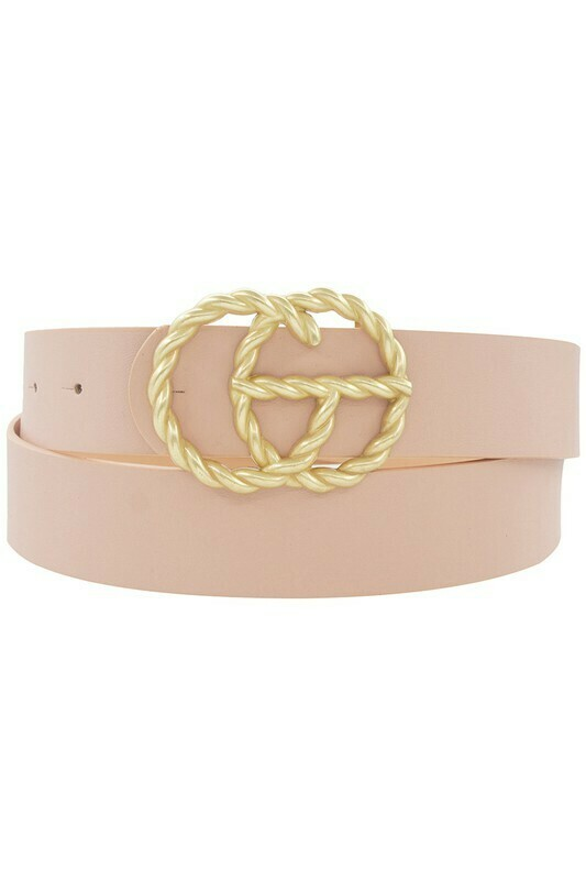 Double G Twist Belt-Blush