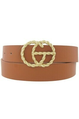 Double G Twist Belt-Brn