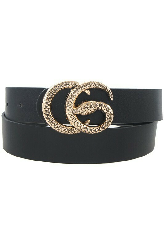 Double G Snake Buckle-Blk