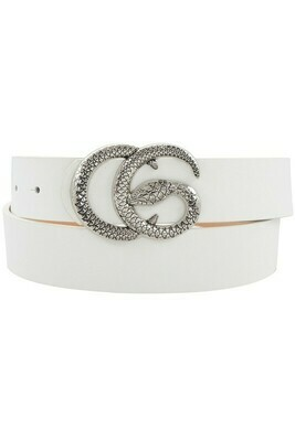 Double G Snake Buckle-Wht