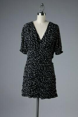 Spotty Dress-Blk