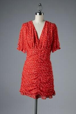 Spotty Dress-Red
