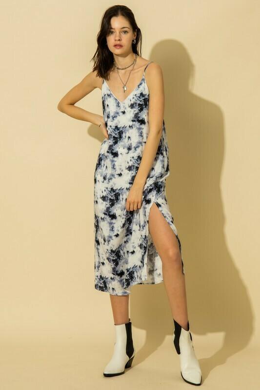 Beachy Vibes Dress-Navy
